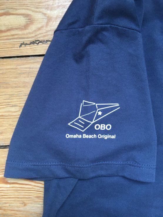 omaha beach original logo on sleeve