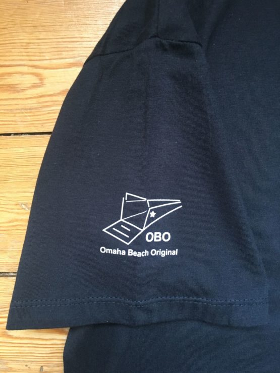 omaha beach original logo on sleeve