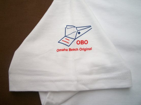 omaha beach original logo sleeve