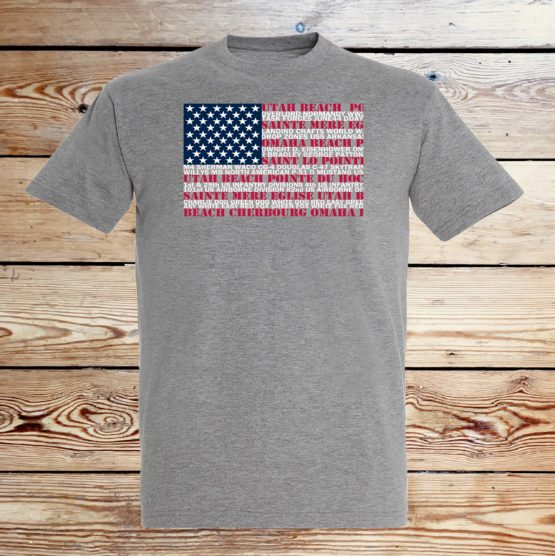 dday flag t shirt